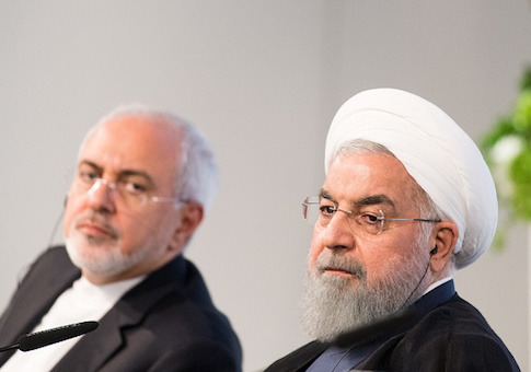 Iranian President Hassan Rouhani and Mohammad Javad Zarif, Iran's foreign secretary