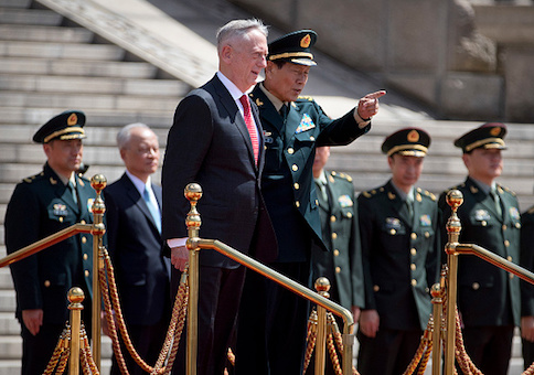 Defense Secretary Jim Mattis and Chinese Defense Minister Wei Fenghe