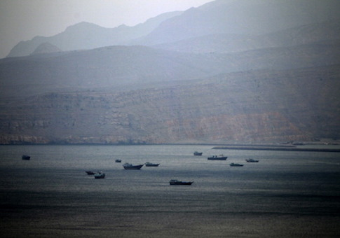 Dhows, fishing boats and cargo ships are seen in the Strait of Hormuz