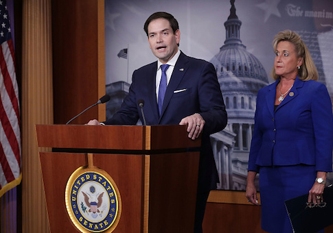 Sen. Marco Rubio and Rep. Ann Wagner hold a news conference about their proposed paid family leave bills