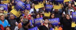 SEIU union protest