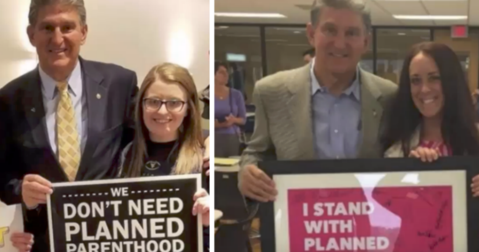 'Pro-Life Democrat' Manchin Attempts to Defend His Vote to Keep Planned Parentho...