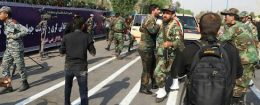 A general view of the attack during the military parade in Ahvaz