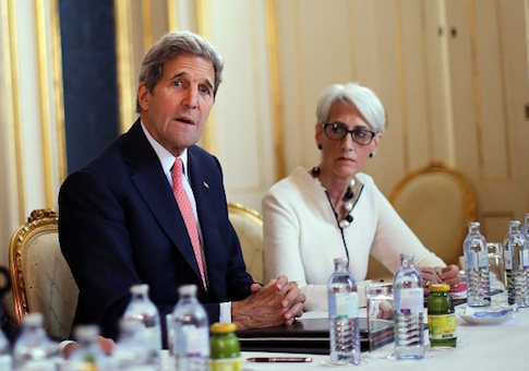 John Kerry and Wendy Sherman
