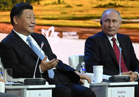 China's President Xi Jinping and Russian President Vladimir Putin