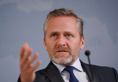 Danish Foreign Minister Anders Samuelsen speaks during a news conference