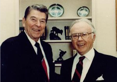 Russell Kirk and Ronald Reagan