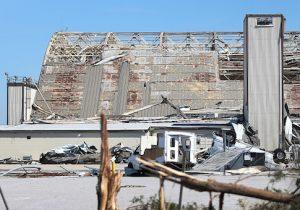 Damage at Tyndall Air Force Base