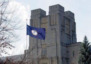 Burruss Hall on the Virginia Tech campus