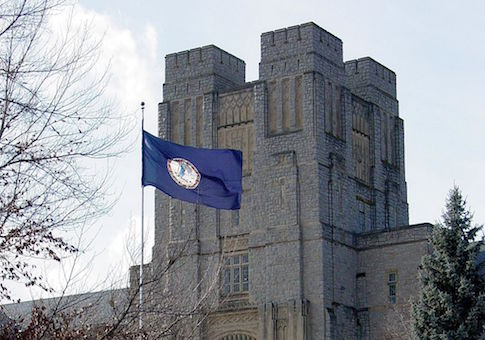 Burruss Hall on the Virginia Tech campus