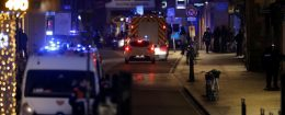 Rescue teams work at the scene of shooting in Strasbourg, France