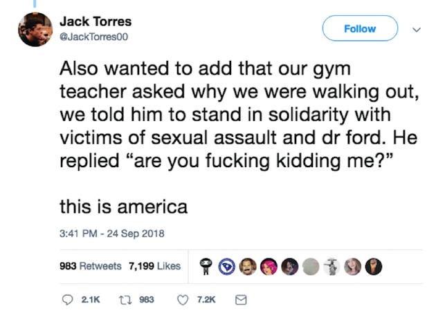 Somerville High School gym teacher tweet 2
