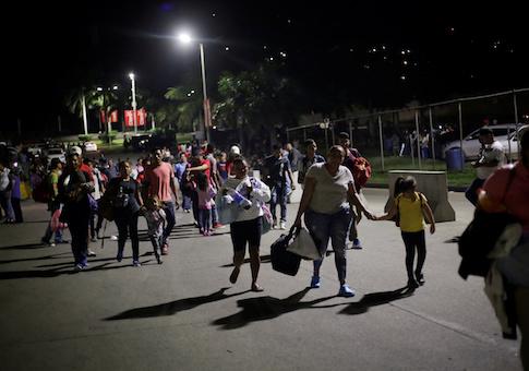 Hondurans take part in a new caravan of migrants