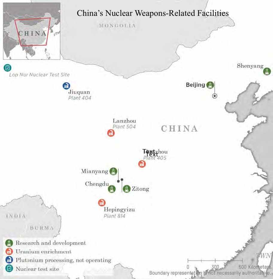 China nuclear weapons facilities