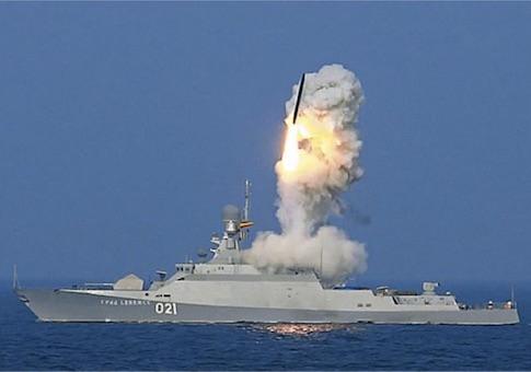 Kalibr missile firing