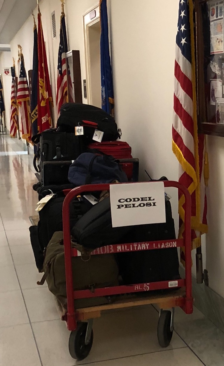PICTURE: Trump Returns CODEL Luggage to Pelosi's Office - Washington Free Beacon