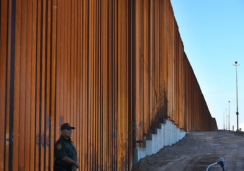 30-foot border wall in the El Centro Sector, at the US Mexico border in Calexico, California