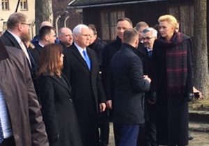 Mike Pence visits Auschwitz