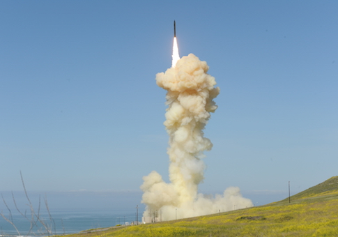 Ground-based Interceptor missile test