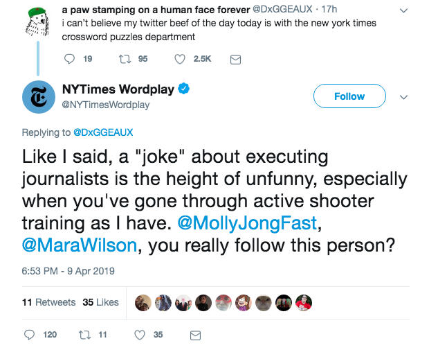 Nytimes Crossword Feuds With Teenage Communist Dog Twitter Account