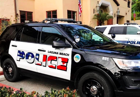 photo image Laguna Beach Reconsidering 'Aggressive' American Flags on Police Cars After Backlash