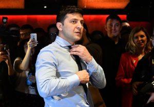 Presidential frontrunner Volodymyr Zelensky