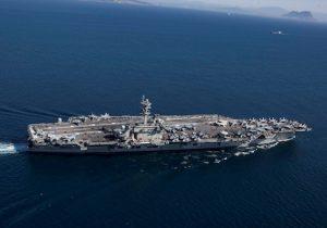 The Nimitz-class aircraft carrier USS Abraham Lincoln (CVN 72) transits the Strait of Gibraltar