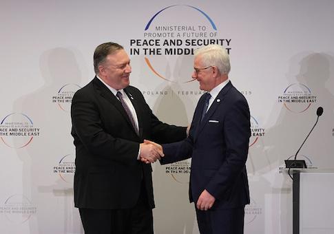 Secretary of State Mike Pompeo and Polish Foreign Minister Jazek Czaputowicz
