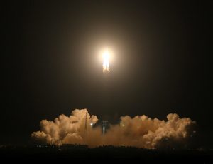 China's heavy-lift carrier rocket Long March-5 blasts off