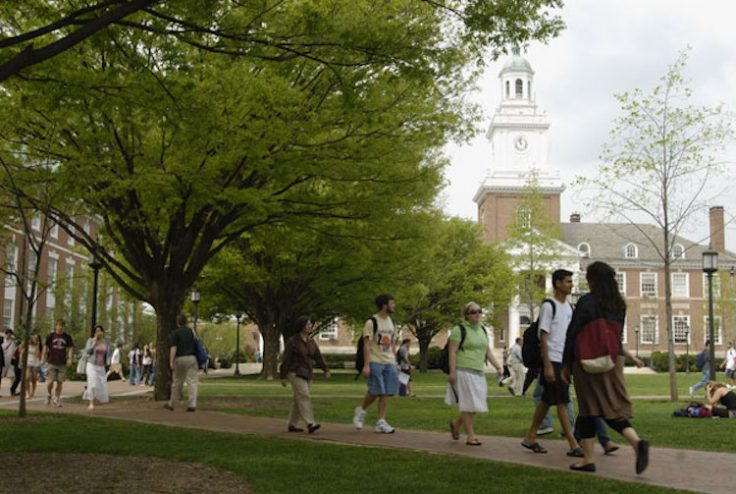 Johns Hopkins University Campus / Wikimedia Commons