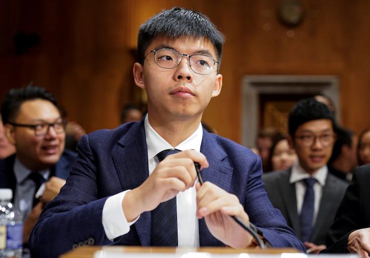Joshua Wong, secretary-general of Hong Kong's pro-democracy Demosisto party and leader of the 'Umbrella Movement' / Reuters