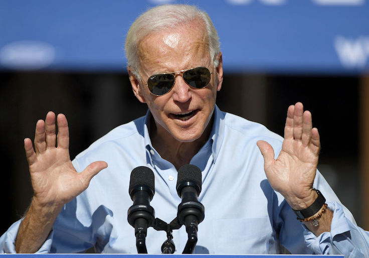 Democratic Presidential Candidate Joe Biden Campaigns In Las Vegas