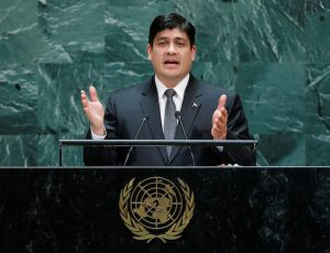 Costa Rica's President Quesada addresses the 74th session of the United Nations General Assembly at U.N. headquarters in New York City, New York, U.S.