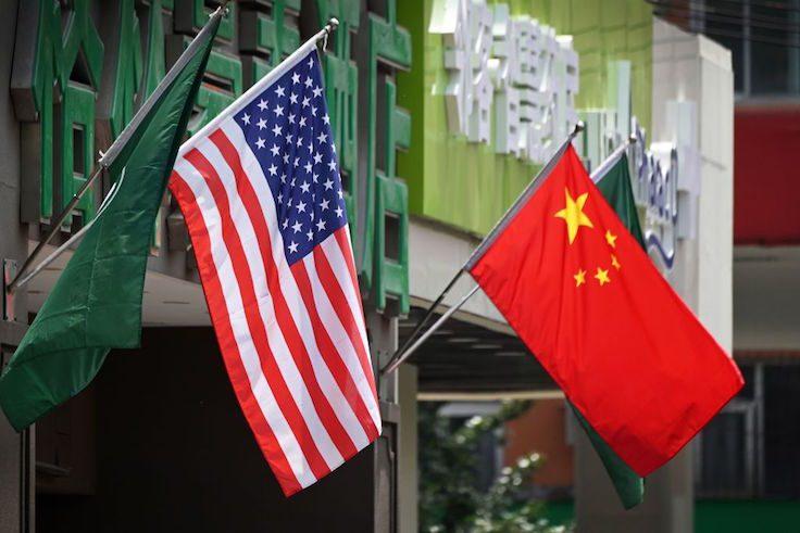 U.S. Chinese flag