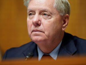 Chairman of the Senate Judiciary Committee Lindsey Graham speaks during the reauthorization of Freedom Act in Washington