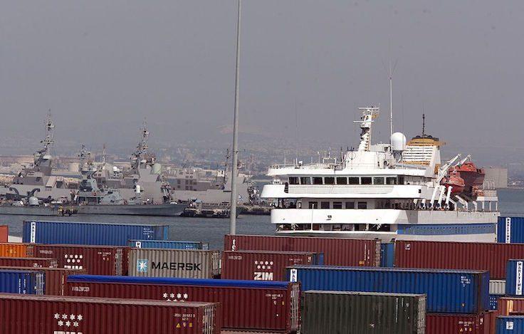Turkish ship Mavi Marmara is seen docked at the port in Haifa on August 5, 2010
