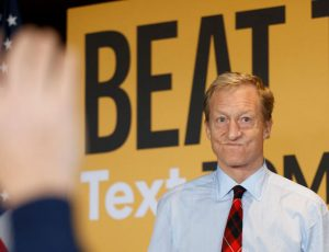 Tom Steyer Campaigns In Iowa Ahead Of Caucus