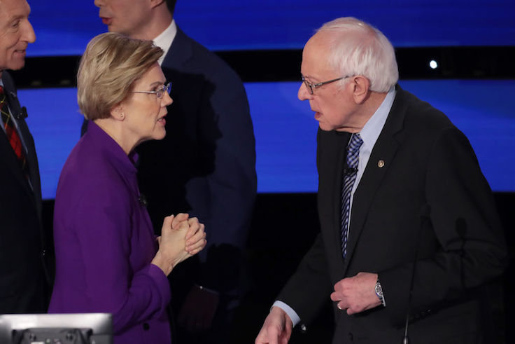 Man With 'Endorse Bernie Already' Sign Removed From Warren Event - Washington Free Beacon
