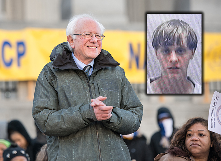 Sanders's Support for Racist Killer Dylann Roof's Right to Vote Could Pose Challenge in Crucial S.C. Primary