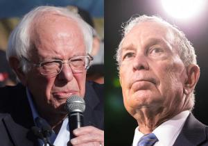 Bernie Sanders Michael Bloomberg