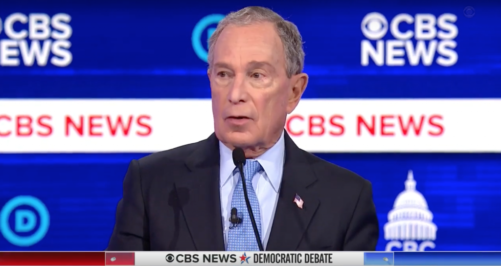 Bloomberg Insists on Debate Stage China's Xi Isn't a Dictator