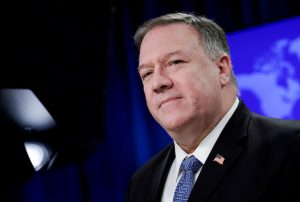 FILE PHOTO: Secretary of State Pompeo speaks to the media in Washington