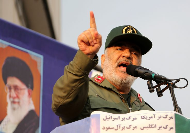 Iranian Revolutionary Guards commander Major General Hossein Salami
