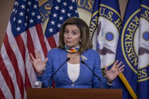 Speaker Pelosi Speaks To Members Of Press During Weekly Briefing