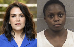 Abbi Jacobson and Brittany Scott, who was booked on June 1 for aggravated battery on an officer and bailed out by CCBF