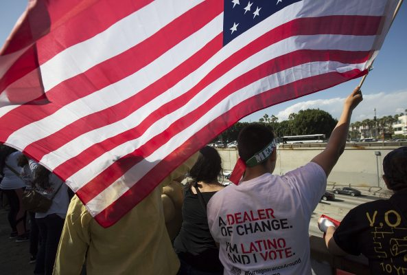 Rally And March Held On May Day In Los Angeles