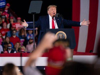 Donald Trump Holds MAGA Campaign Rally In Macon, GA