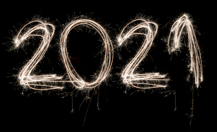 Happy New Year 2021 Sparkle