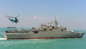 Iran's first domestically made destroyer Jamaran