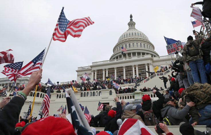 The U.S. Capitol Building is stormed by a pro-Trump mob on January 6, 2021